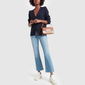 SLVRLAKE Sara Cropped Flare Jeans Coldwater Canyon